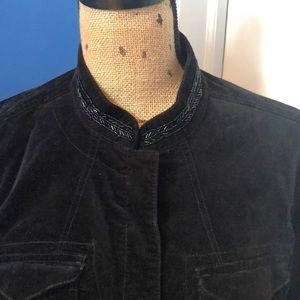 Jackets & Blazers - Women's Black Beaded Jean Jacket
